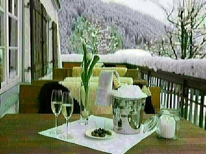 Terasse im Winter